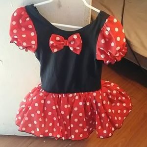 Black & red dress with white polka dots, size 3T